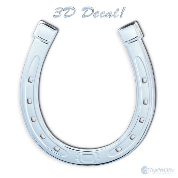3D Horseshoe Sticker Decal
