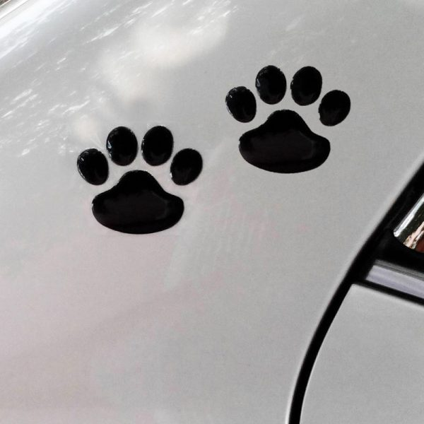 3D Paw Car Decal Black