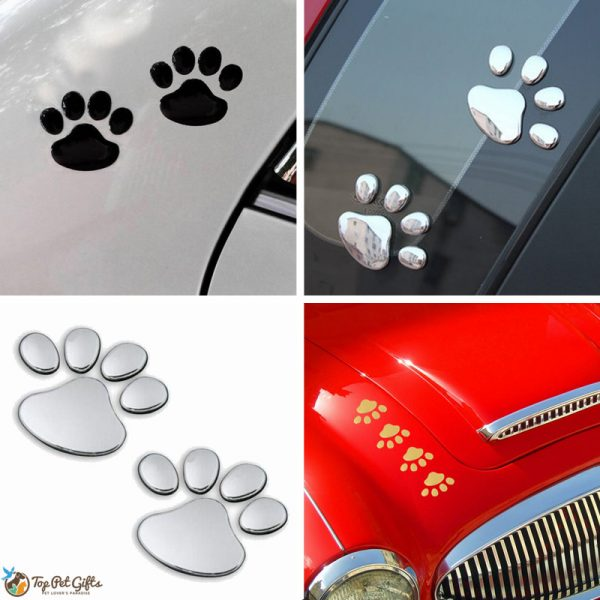 3D Paw Car Decals