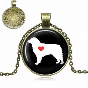 Australian Shepherd Love Glass Dome Necklace