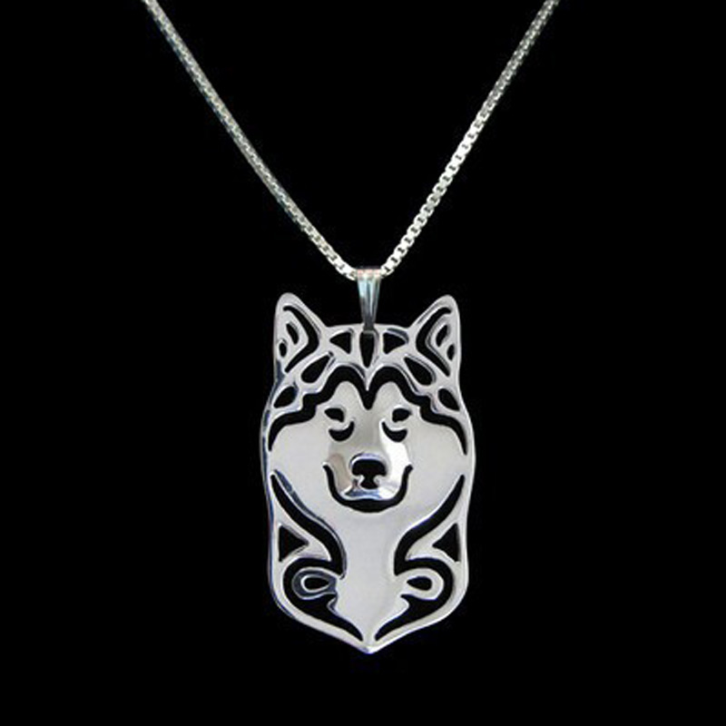 Alaskan Malamute Hollow Necklace