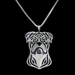 American Bulldog Boho Cutout Necklace