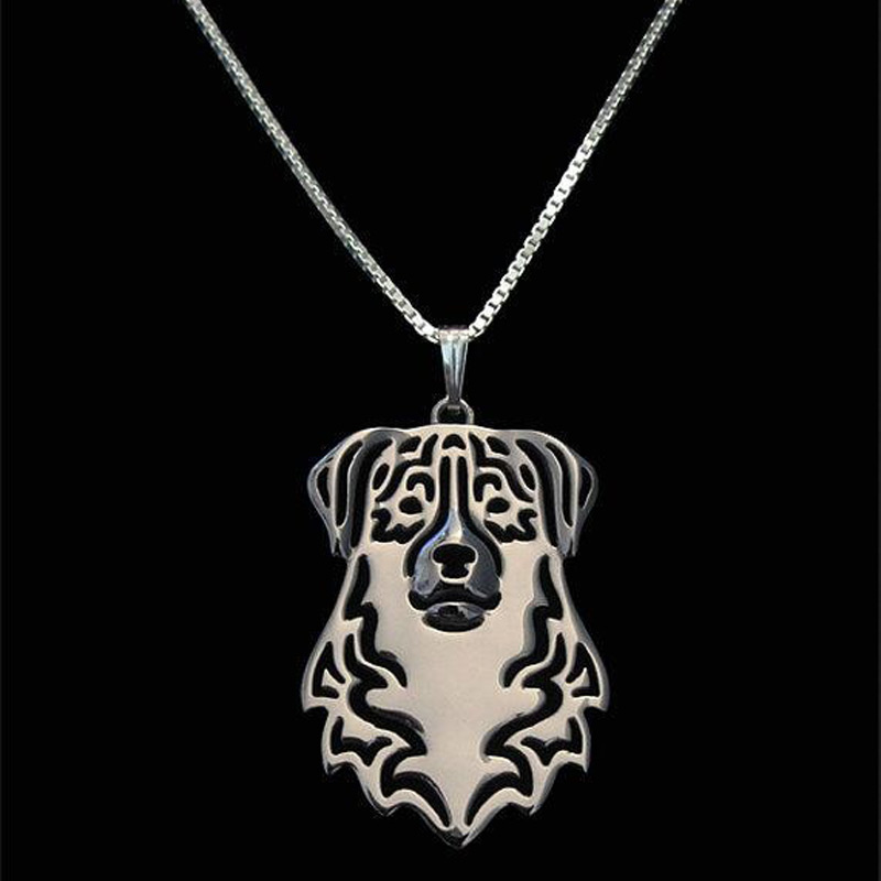 Australian Shepherd Boho Cutout Necklace