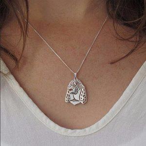 Basset Hound Boho Cutout Necklace