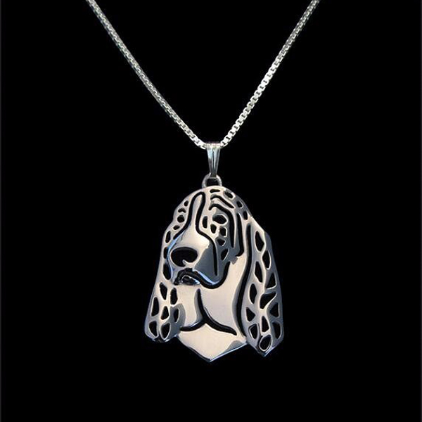 Basset Hound Boho Cutout Necklace