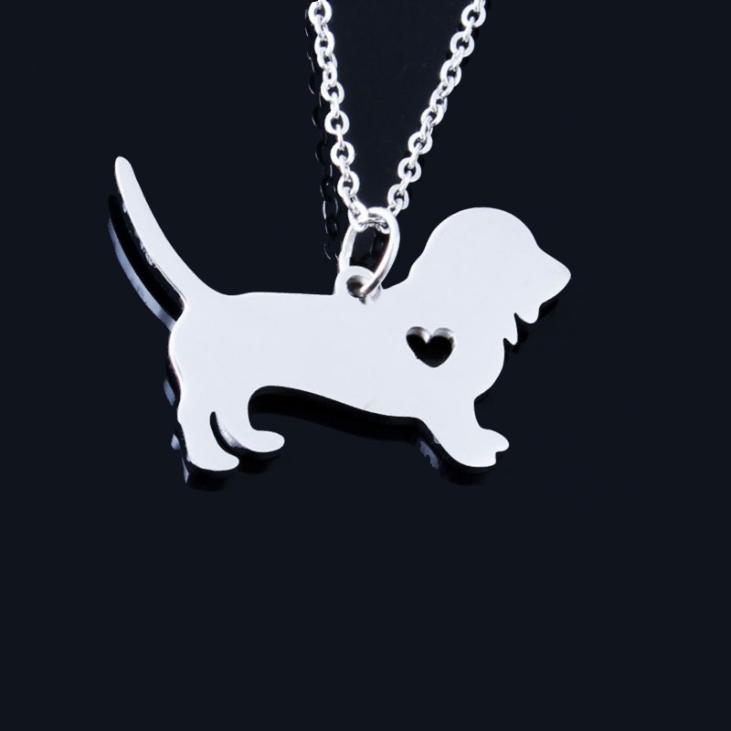 Basset Hound Stainless Steel Necklace