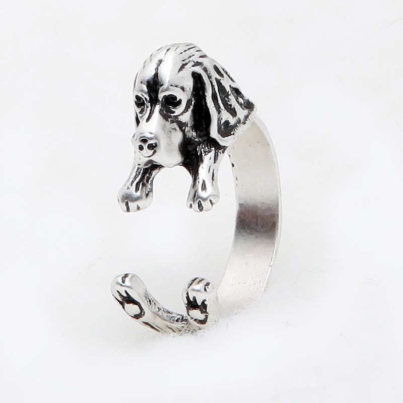 Basset Hound Adjustable Wrap Ring