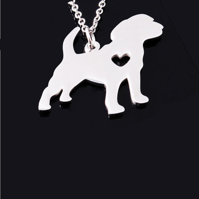 Beagle Stainless Steel Necklace