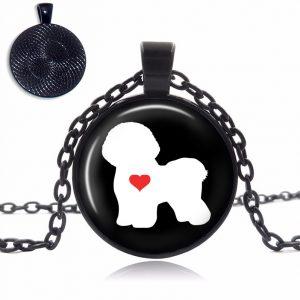 Bichon Love Glass Dome Necklace