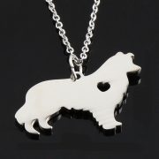 Border Collie Stainless Steel Necklace