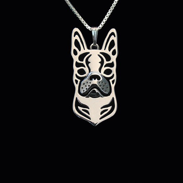 Boston Terrier Boho Cutout Necklace