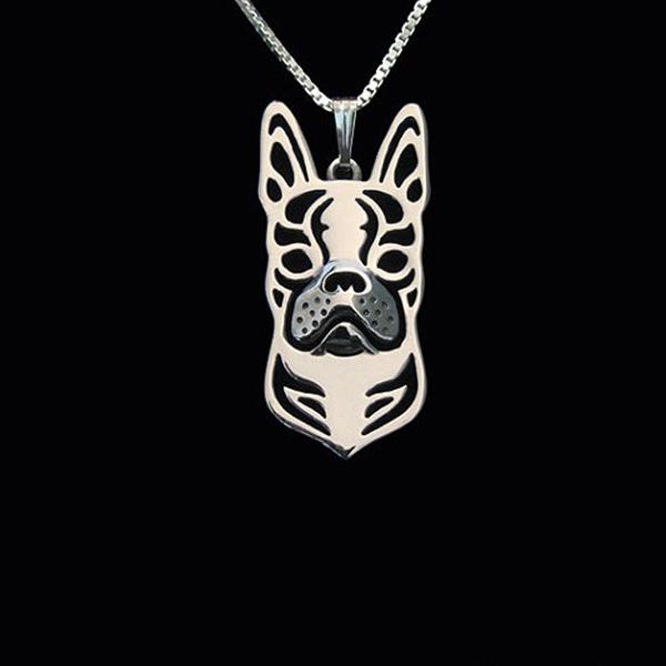 Boston Terrier Boho Cutout Necklace