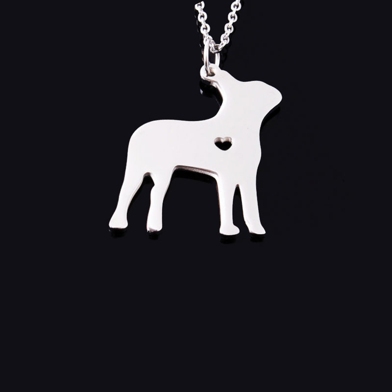 Boston Terrier Stainless Steel Necklace
