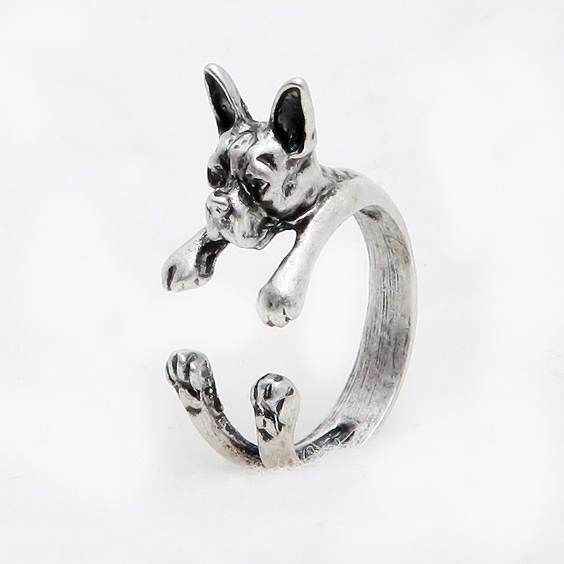 Boston Terrier Adjustable Wrap Ring