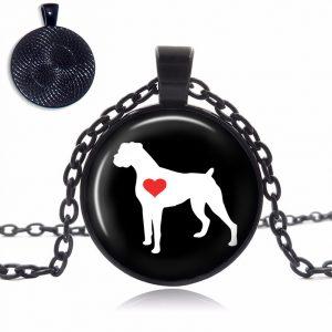 Boxer Love Glass Dome Necklace