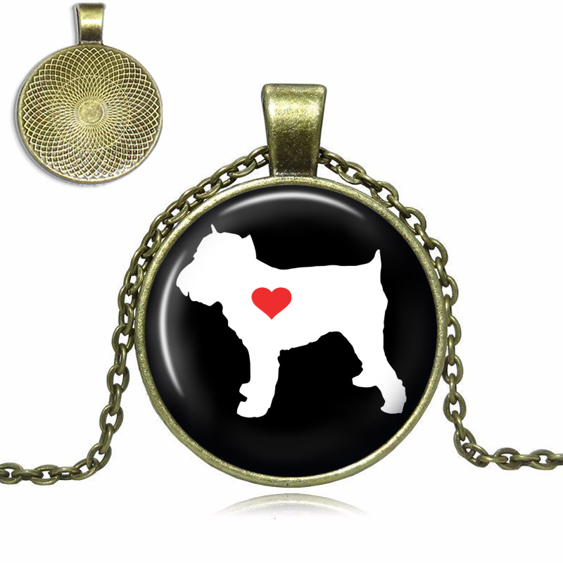 Brussels Griffon Love Glass Dome Necklace