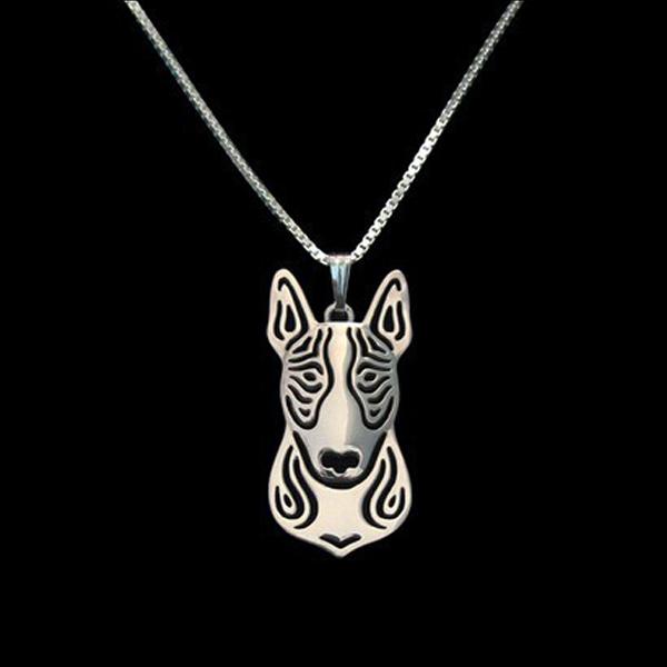 Bull Terrier Boho Cutout Necklace