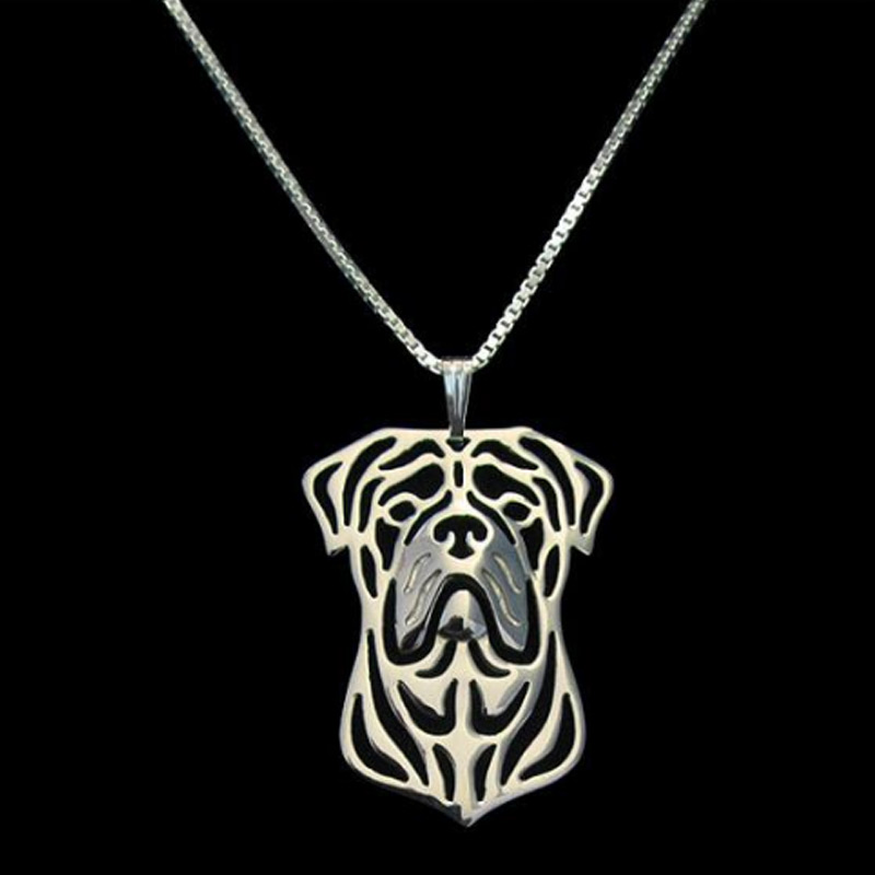 Bullmastiff Boho Cutout Necklace