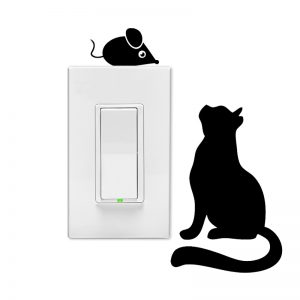 Cat and Mouse Wall Light Switch Decal