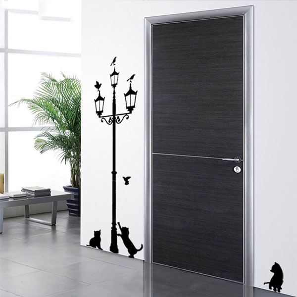 Cats and Ancient Lamp Wall Stickers