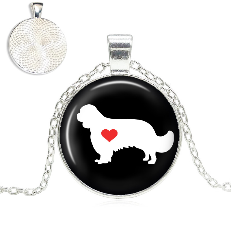 Cavalier Love Glass Dome Necklace