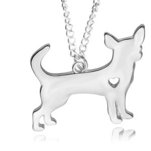 Chihuahua Love Pendant Necklace