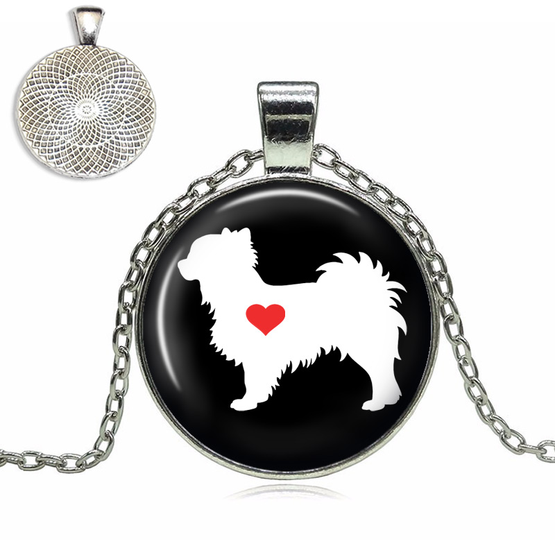 Chihuahua Love Glass Dome Necklace