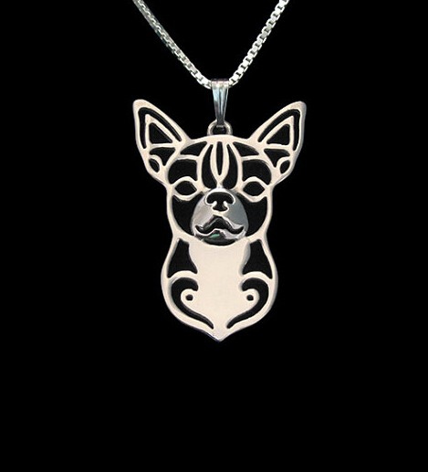 Chihuahua Boho Cutout Necklace