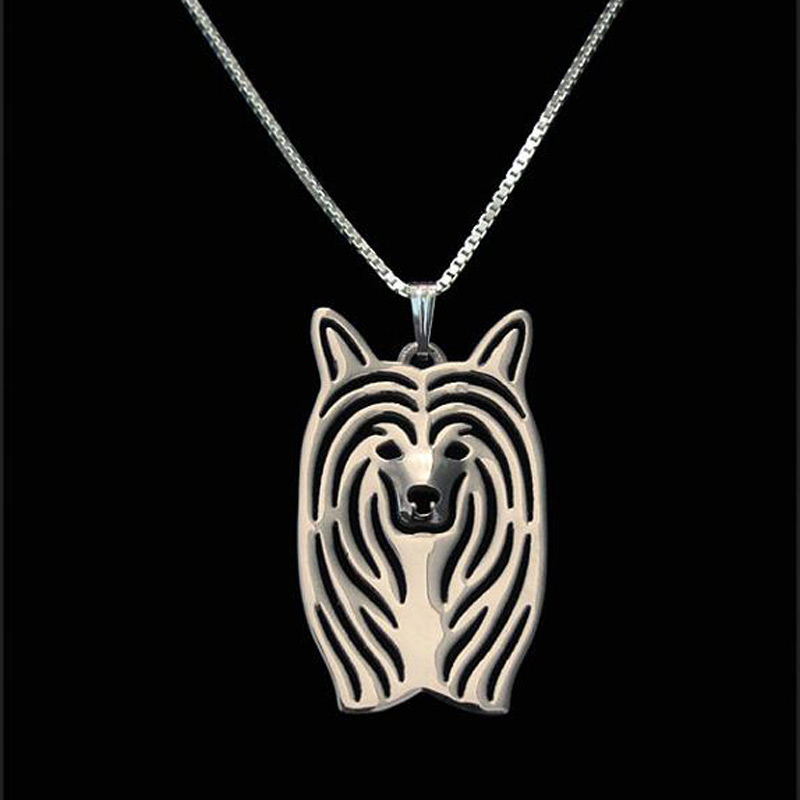 Chinese Crested Boho Cutout Necklace