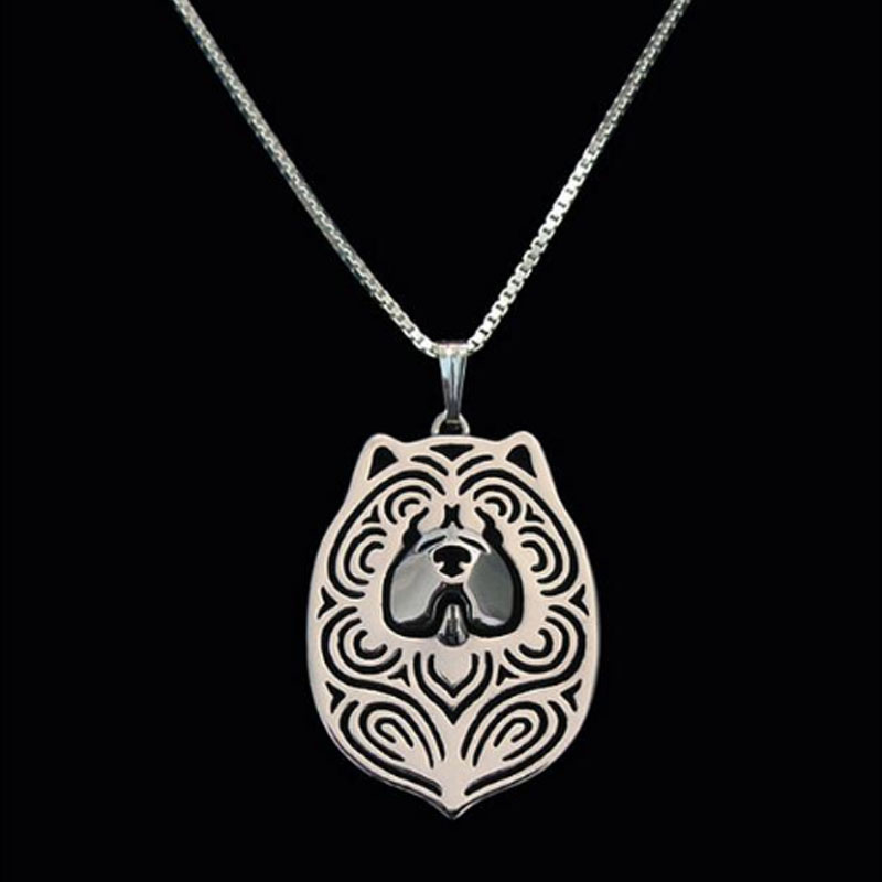 Chow Chow Boho Cutout Necklace
