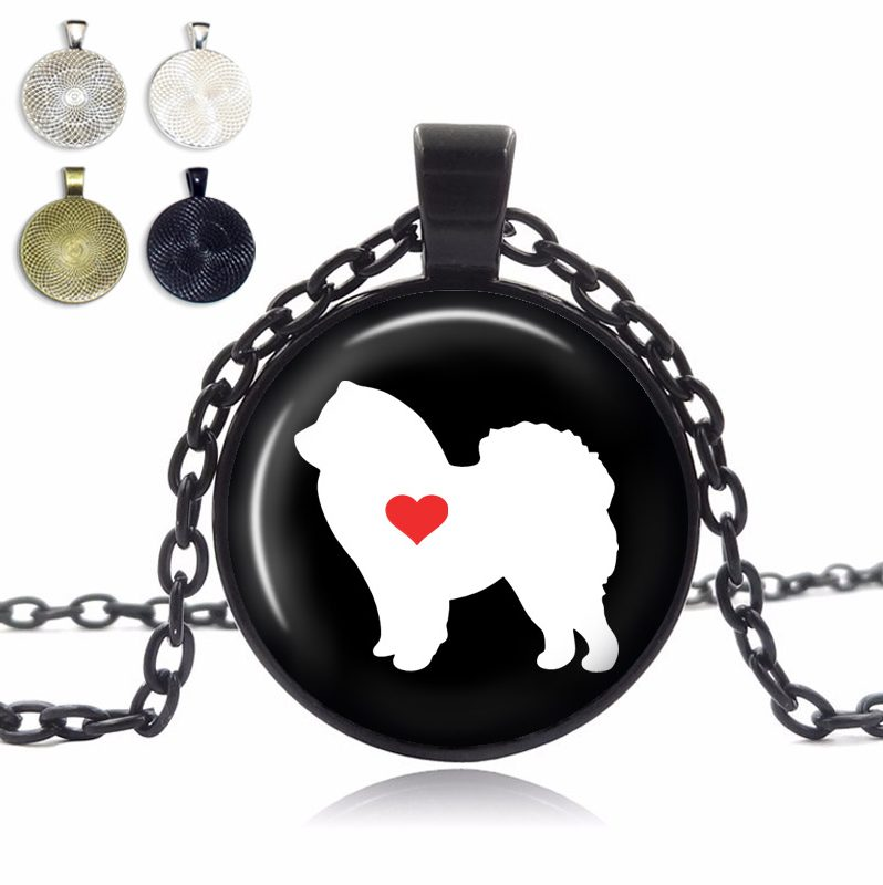 Chow Chow Love Glass Dome Necklace