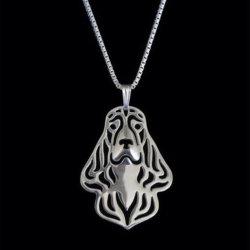 Cocker Spaniel Boho Cutout Necklace