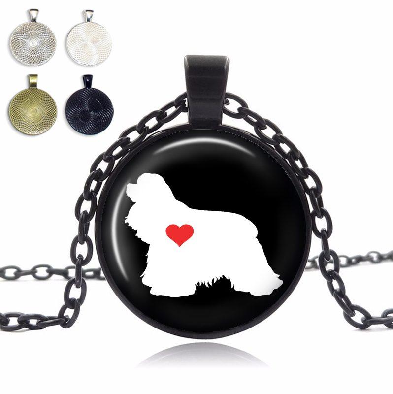 Cocker Spaniel Love Glass Dome Necklace
