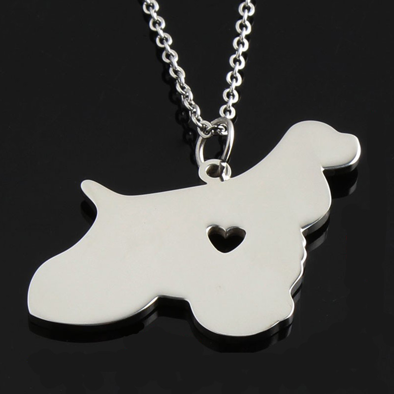 Cocker Spaniel Stainless Steel Necklace
