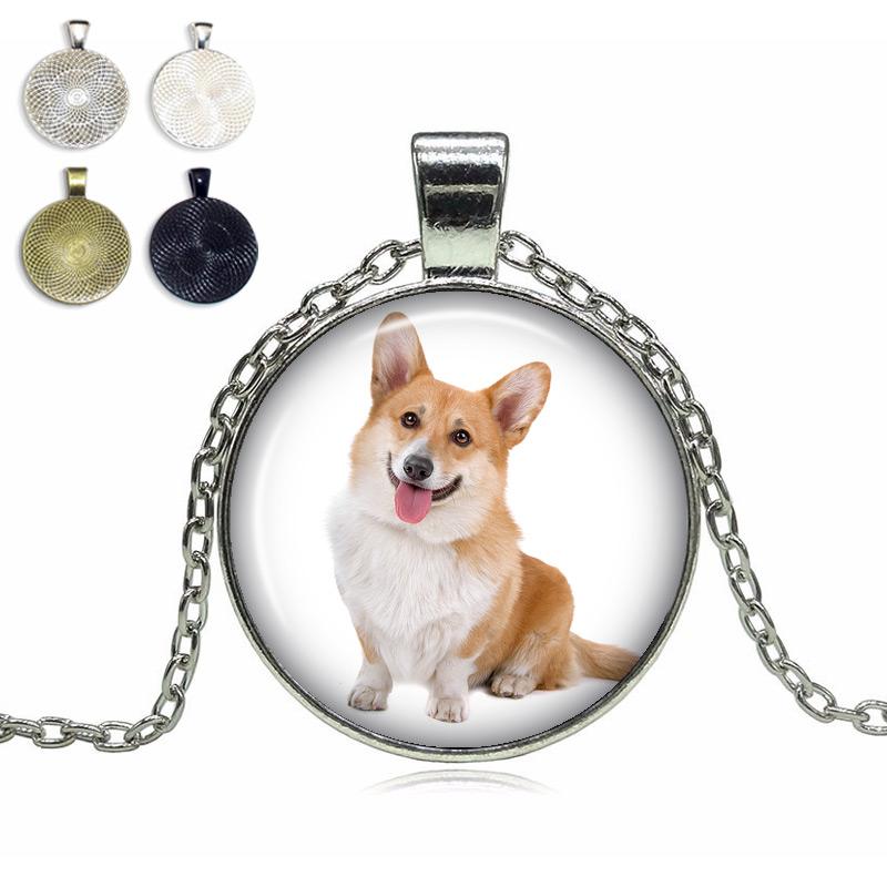 Corgi Glass Dome Necklace
