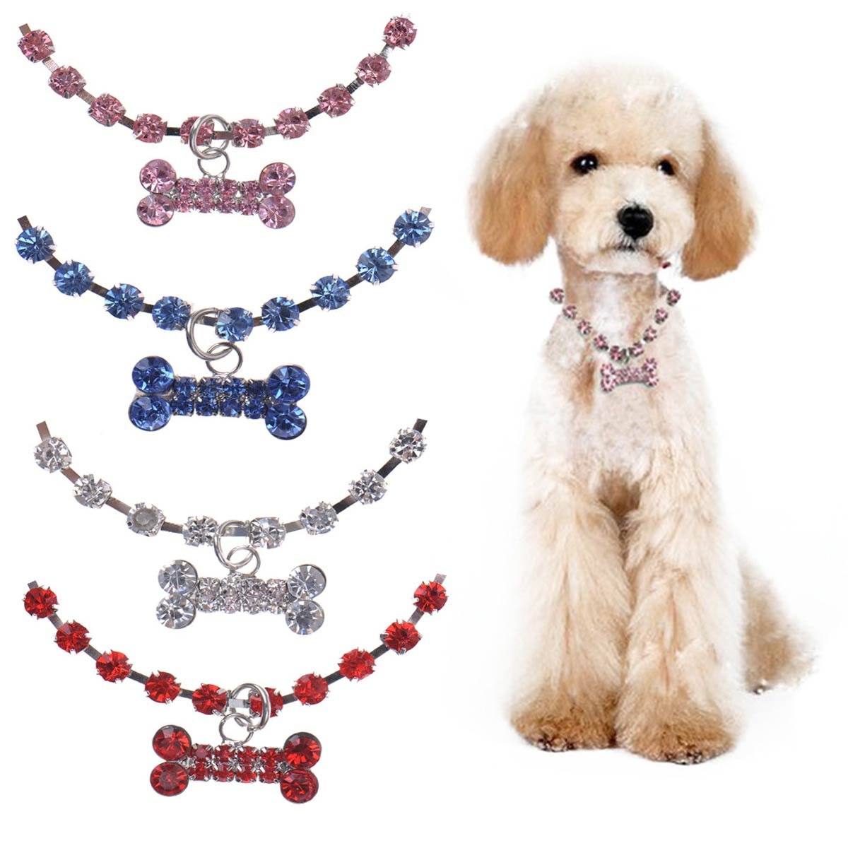 Rhinestone Dog Necklace