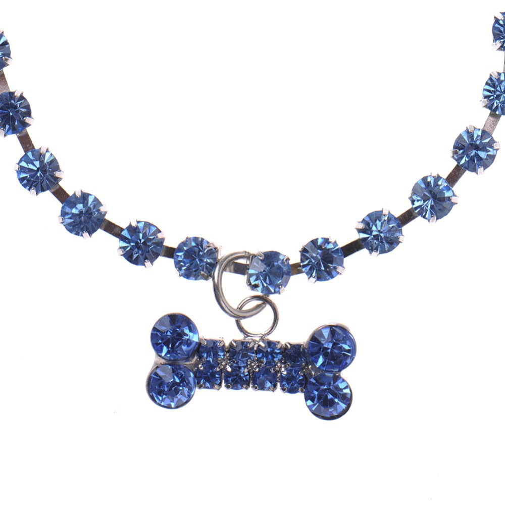 Crystal Bone Rhinestone Dog Necklace
