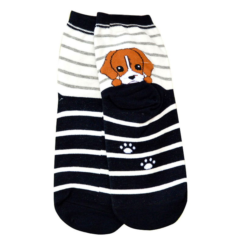 Cute Cartoon Dachshund Puppy Socks
