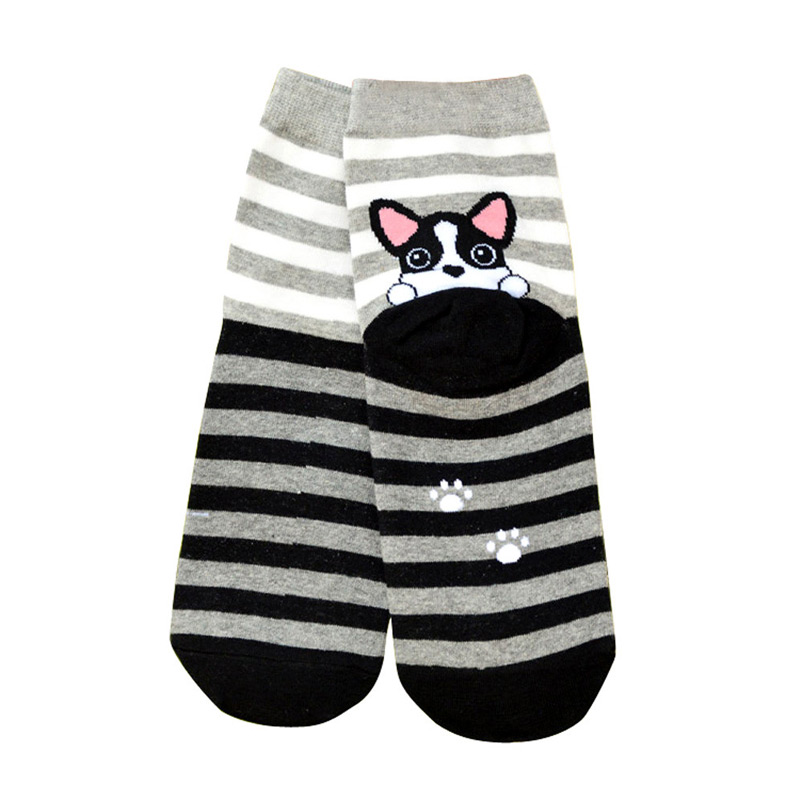 Cute Cartoon French Bulldog Puppy Socks