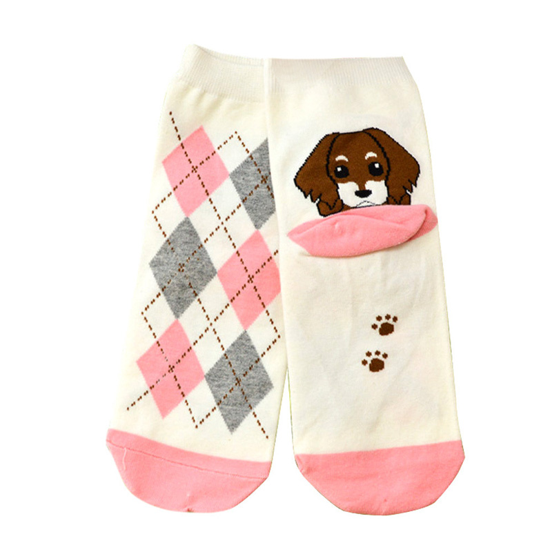 Cute Cartoon Cocker Spaniel Puppy Socks