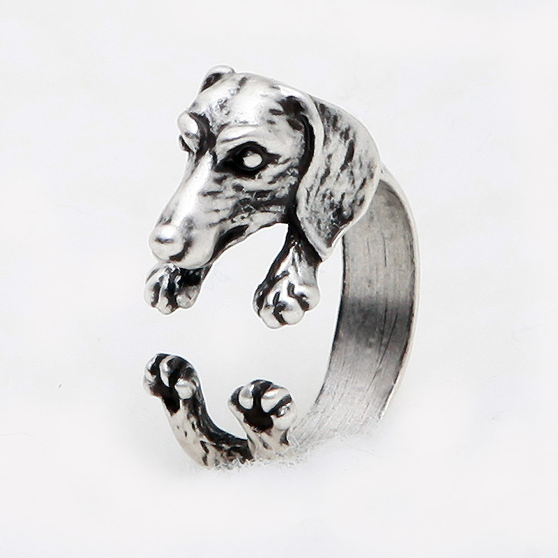 Dachshund Adjustable Wrap Ring