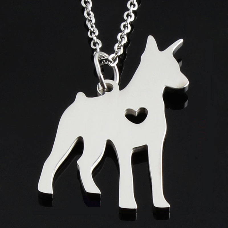 Doberman Stainless Steel Necklace