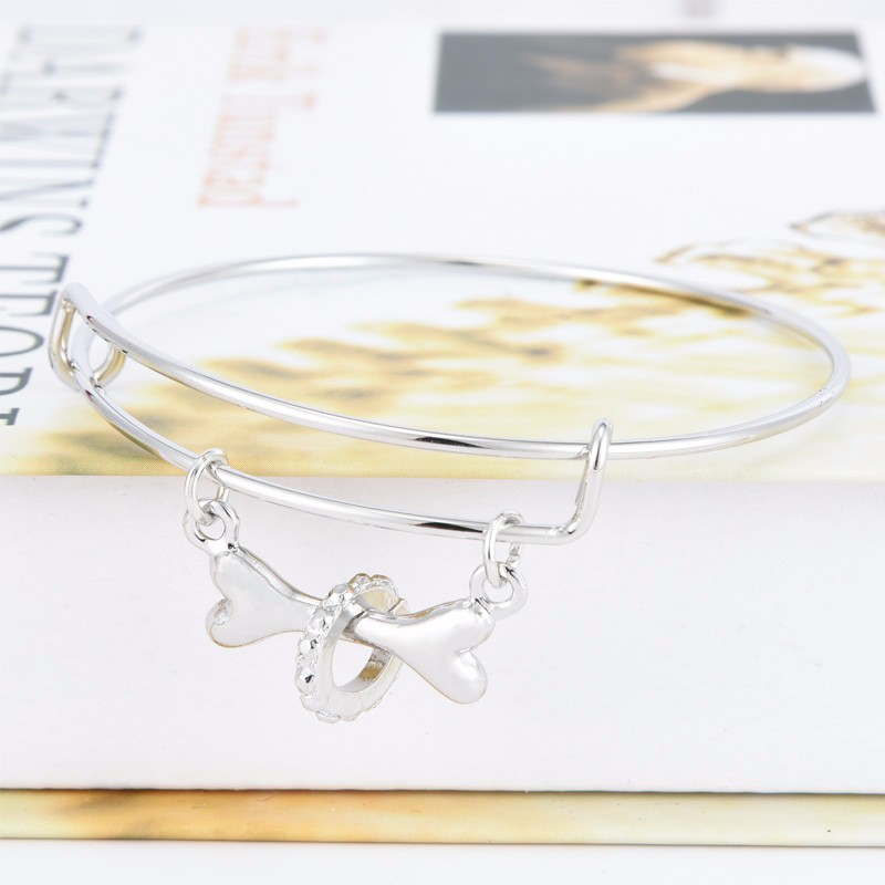 Dog Bone Bangle Bracelet