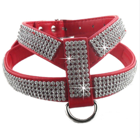 Dog Harness with Rhinestones