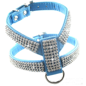 Dog Harness with Rhinestones