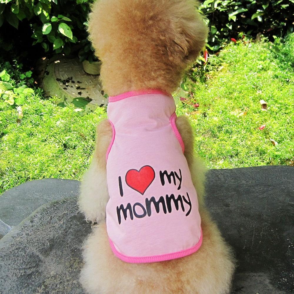 Dog Tshirt I love my mommy
