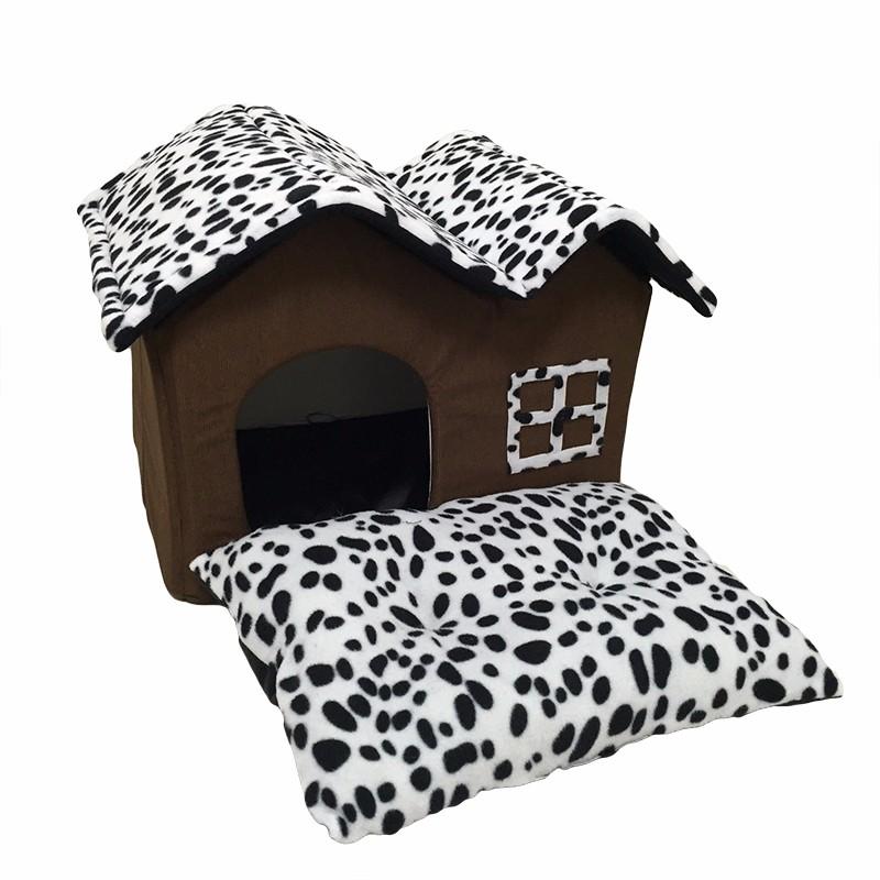 Dotted Folding Dog House