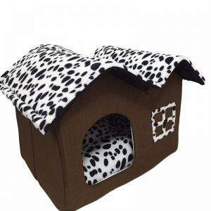 Dotted Folding Dog House