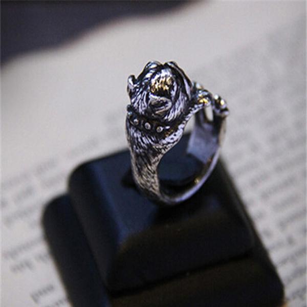 English Bulldog Adjustable Wrap Ring