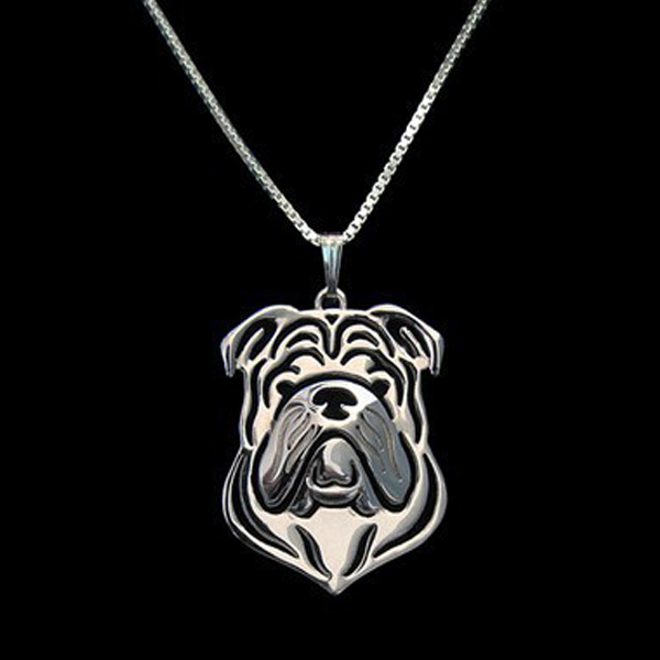 English Bulldog Boho Cutout Necklace